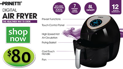 AIR FRYER 8LITRE